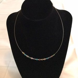 Dainty Colorful Bead Necklace